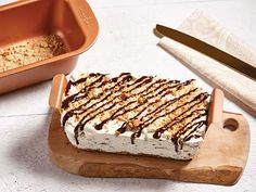 S'mores No-Churn Ice Cream Loaf Recipes Loaf Recipes, Dessert Recipes, Desserts, Pan N Ice, Baking Pans Set, Copper Cooking Pan, Fried Ice Cream, No Churn Ice Cream, Loaf Pan