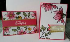 Stampin with Karen Spreckley: Stampin up markers used with Remarkable you and Garden in bloom stamps