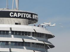 The Space Shuttle Endeavor buzzing by my old workplace! Sept 2012