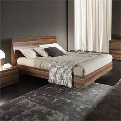 Lowest price online on all Rossetto Vela King Platform Bed in Walnut - 4306600375000