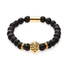 Gold Lava Lion Bracelet