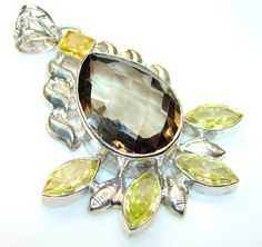 Instant Classic Smoky Topaz Sterling Silver Pendant