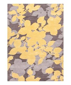 Take a look at this Yellow & Gray Transitional Floral Wool Rug by Jaipur Rugs on #zulily today!  I love the colors in play for accessories etc  Pale yellow, gray, a taupe color with a touch of purple or brown in it, just lots of ways to play with it!
