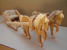 Gingerbread horse and sleigh
