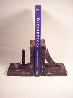 Medieval Wood Wooden Bookends Book Ends by SnapshotsThroughTime, $27.50