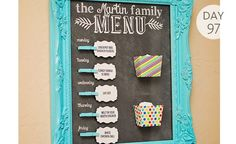 Fabulous weekly menu boards to keep your dinner plans organized!