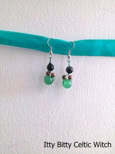 Dangle Earrings Handcrafted from Black by IttyBittyCelticWitch, $9.49