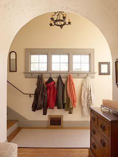 Under The Table and Dreaming: Entryway & Mudroom Inspiration & Ideas {Coat Closets, DIY Built Ins, Benches, Shelves and Storage Solutions}