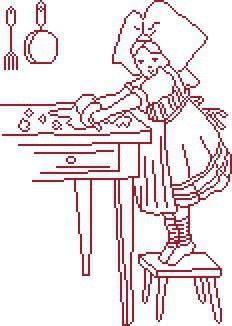Point de croix : en cuisine !