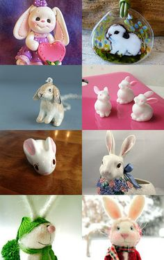 Cute bunny by aquaticplants on Etsy--Pinned with TreasuryPin.com