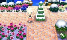 Animal Crossing: New Leaf & HHD QR Code Paths , lunafromnocturne:   Peach Cobblestone -...