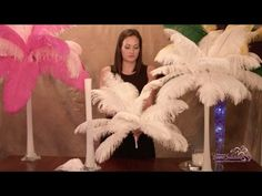 Ostrich Feather Centerpieces - How To