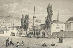Огюст Раффе. Мечеть в ханском дворце. Бахчисарай (Крым) 17 августа 1837 года