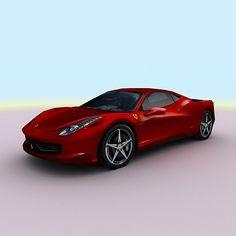 458 Italia Sports Car 3D C4d - 3D Model