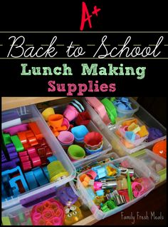 Awesome Back to School Lunch Supplies