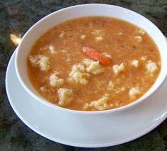 Slovenian Soup with Bumps