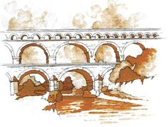 HISTÓRIA DA ARQUITETURA - Roma - História da Arquitetura (Arquedutos)