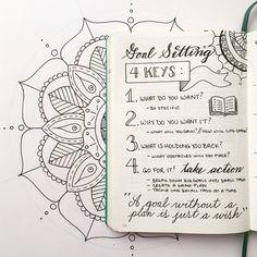 <3 Planner [The 4 Keys to Goal Setting - Boho Berry]