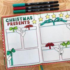 Bullet Journal December, Bullet Journal Gifts, 2017 Bullet Journal, Bullet Journal Christmas, Bullet Journal Notebook, Bullet Journal Aesthetic, Bullet Journal Themes, Bullet Journal Layout Ideas, Bullet Journals