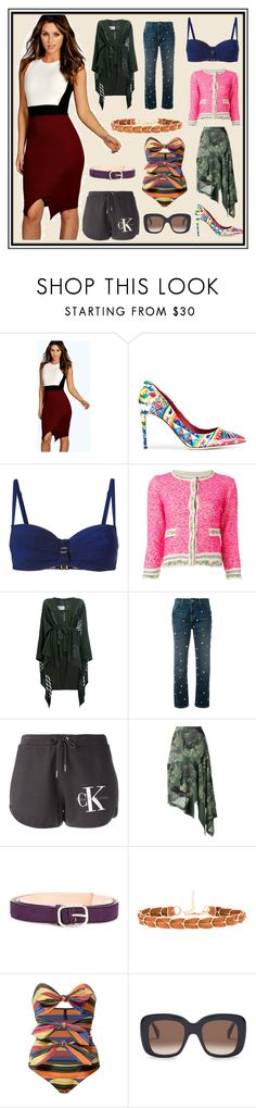 """Birthday Party"" by cate-jennifer ❤ liked on Polyvore featuring Boohoo, Dolce&Gabbana, Marlies Dekkers, 20.52, Balmain, Essentiel, Calvin Klein Jeans, Antonio Marras, Nina Ricci and Ettika"
