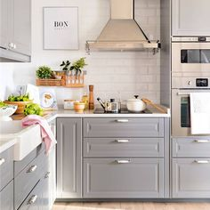 Discover recipes, home ideas, style inspiration and other ideas to try. Open Kitchen And Living Room, Kitchen Corner, My Dream Home, Future House, New Homes, Sweet Home, Kitchen Cabinets, Ikea, Buenas Ideas