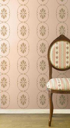 Border Stencils | Swedish Floral Wall Stencils | Royal Design Studio