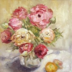 Spring Bouquet - Floral oil painting, painting by artist Deb Kirkeeide
