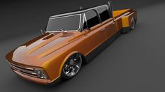 Slammed Chevy dually design