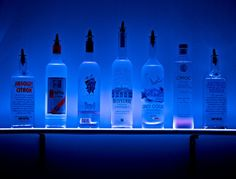 led liquor display