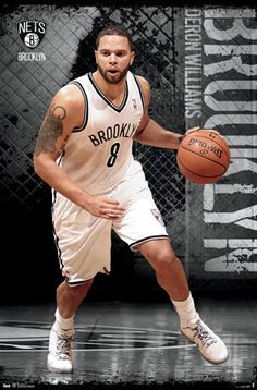 Deron Williams Court Demon Brooklyn Nets Poster - Costacos 2012
