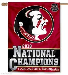 Florida State National Champs 2013 House Flag