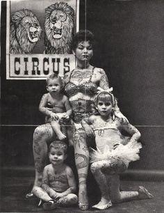 vintage tattoo photo...even the children!