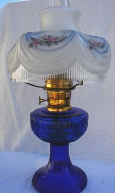Aladdin Kerosene Mantle Lamp just because i luv cobalt blue anything