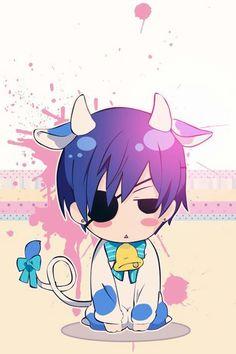 Ciel Chibi as a Cow