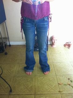 Lakeside Homestead : Diy skinny-ish jeans