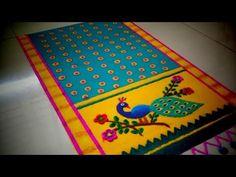 Simple Rangoli Designs Images, Colorful Rangoli Designs, Rangoli Designs Diwali, Cd Crafts, Paper Crafts, Rangoli Ideas, Easy Rangoli, Poster Rangoli, Special Rangoli