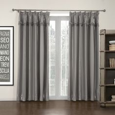 Grey Stripe Mordern Room Darkening Curtain  #curtains #decor #homedecor #homeinterior #brown