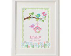 Baby boy Cross stitch pattern Birth by AnimalsCrossStitch on Etsy