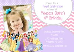 Disney Princess Birthday Party Invitation  by PrettyPaperPixels, $8.99