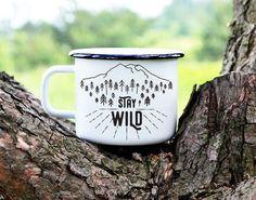 Camping Mug Travel Mug Enamel Mug Adventure Mug by nokkvalley