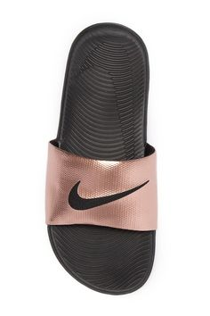 a6f6fa057f83 Swarovski NIKE Slides Bedazzled BRONZE with Lots of Glitter- Sparkly ...