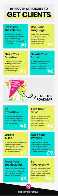 """""""How do I get clients? Here's a list of 100 ideas & things you can do to get more clients lining up to work with you! Business Marketing, Content Marketing, Online Marketing, Marketing Training, Internet Marketing, Media Marketing, Digital Marketing, Business Quotes, Business Tips"""