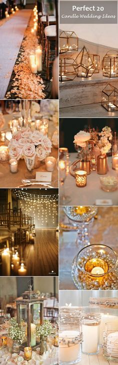 candle wedding ideas to light up your big day