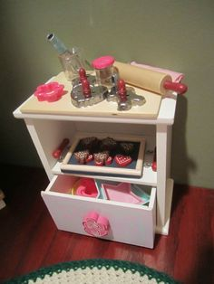 Doll-Kitchen baking cabinet-with drawer that opens -Fits American girl doll