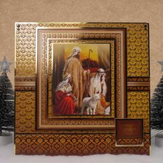 Traditional Christmas by Hunkydory Crafts. Card made using 'A Child is Born' topper set. Part of the 2014 Christmas Craftinator Collection