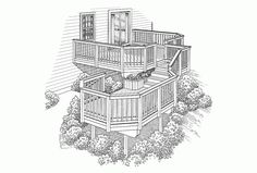 Two story deck plan