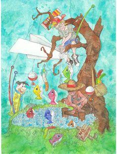 Whimsical Wall Art whimsical art, whimsical painting, whimsical print, woodland