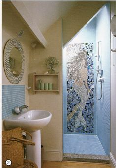 This is awesome!  I love mermaids and this is a unique and one-of-a-kind custom mermaid mosaic tile