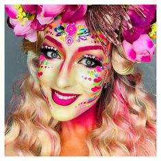 Vastelaovend, carnaval, schmink Painted by Ingrid Breugelmans Vastelaovend, carnaval, schmink Painted by Ingrid Breugelmans Disco Makeup, Adult Face Painting, Fantasy Make Up, Halloween Face Makeup, Hair Styles, Classic, Instagram, Women, Headpieces