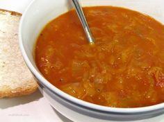 Hungarian Sweet 'n' Sour Cabbage Soup - had this at whole foods and CRAVING MORE!!! Mmmmm.